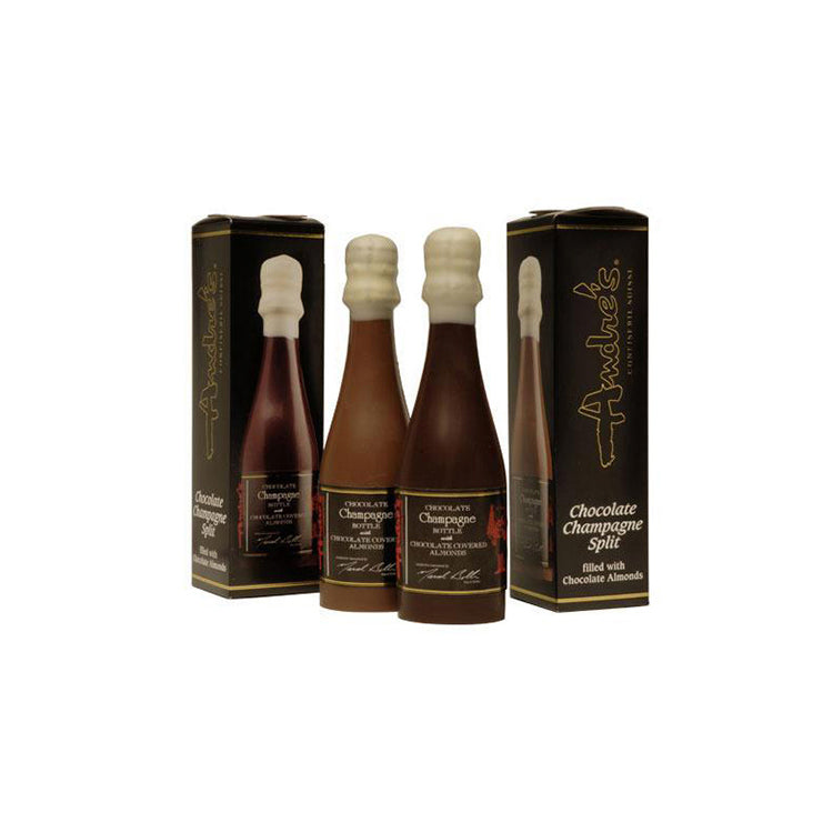 Almond Filled Chocolate Champagne or Wine Bottles
