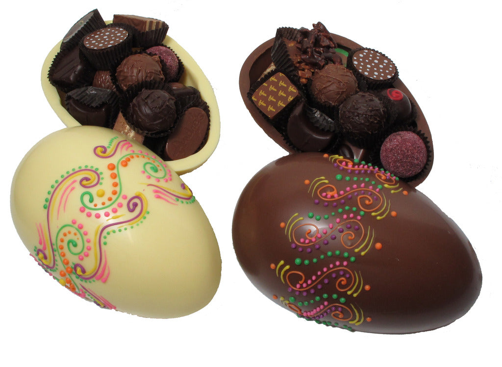 Chocolate Egg with Candies + Truffles - Multicolor Design