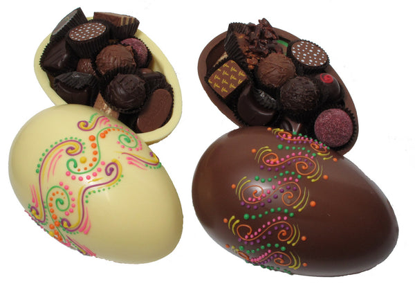 Easter Chocolate Egg - Multicolor Design filled w/Candies & Truffles