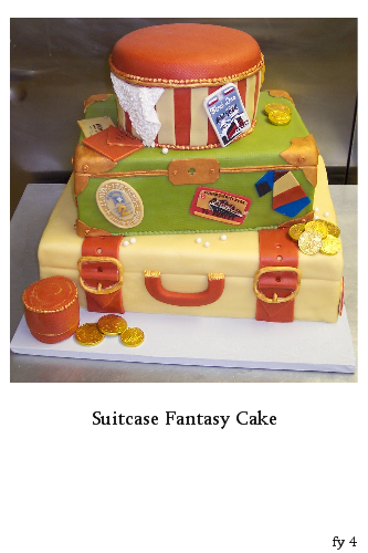 Suitcase Fantasy Wedding Cake