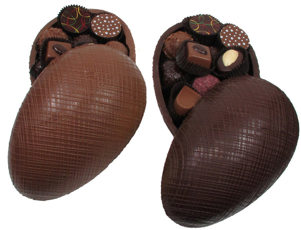 Easter Chocolate Egg - Crosshatch Design