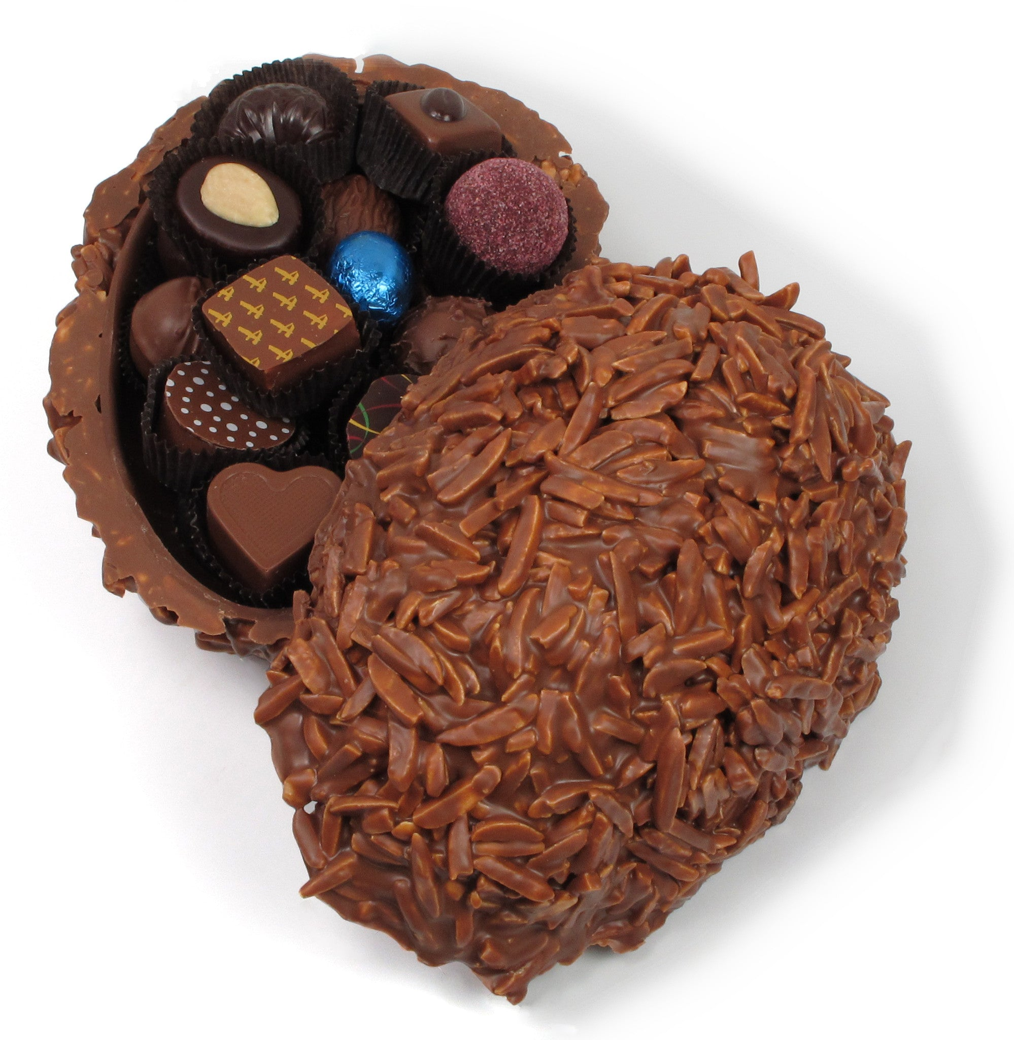 Chocolate Rocher Egg with Candies + Truffles