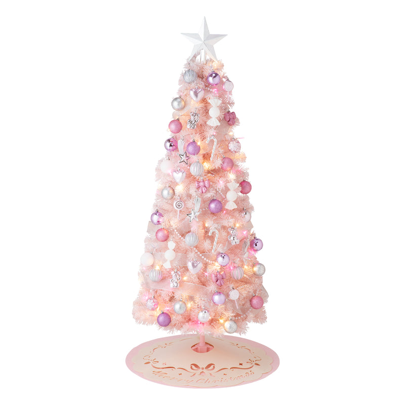 CHRISTMAS TREE STARTER SET 150CM Pink