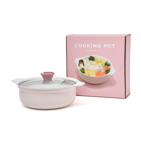AMURE COOKING POT 24CM PINK