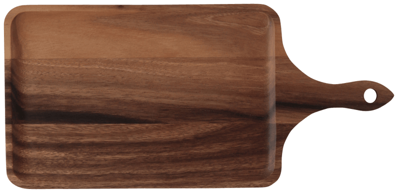 WOODEN Cutting & Plate Board Dark Brown