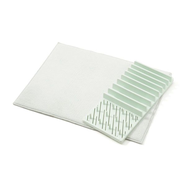 DRYING DISHRACK&MAT SET Green