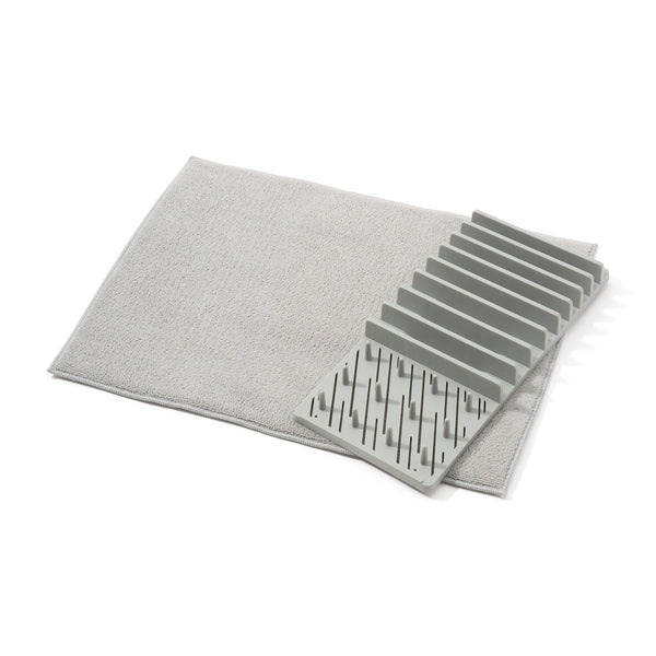 DRYING DISHRACK&MAT SET Gray