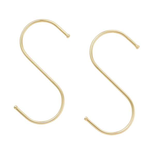 S HOOK SET 2P Large Gold