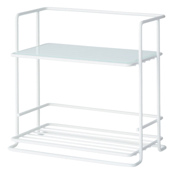 KITCHEN RACK WITH GLASS S WH