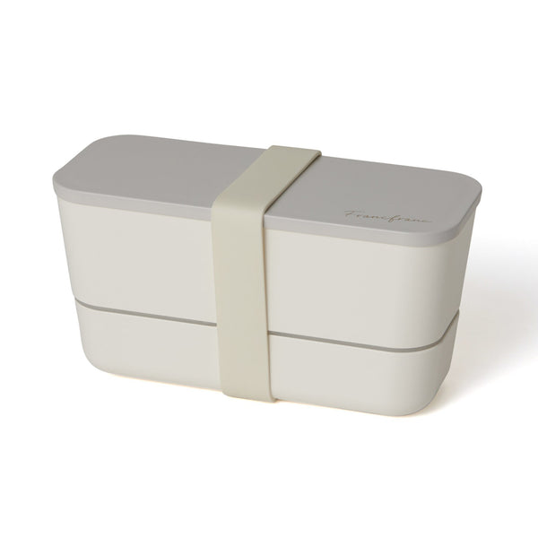 LOGO LUNCHBOX TWO-TIER WHITE
