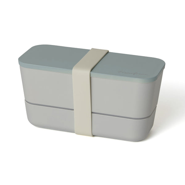 LOGO LUNCHBOX TWO-TIER BLUE