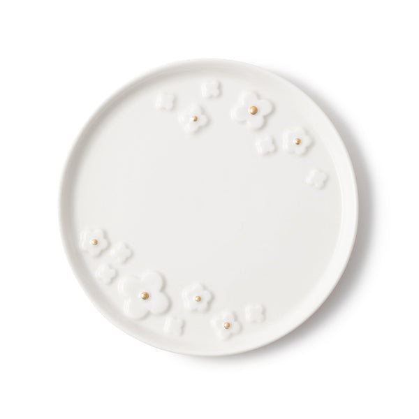 BLOOM PLATE WH