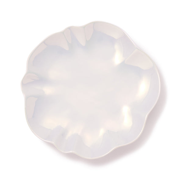 OPAL SHELL PLATE MEDIUM WHITE
