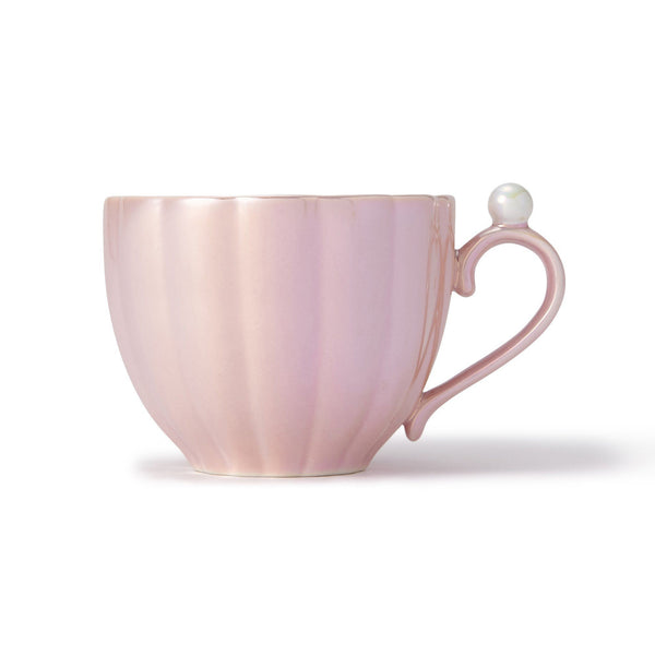 OPAL SHELL CUP & SAUCER PINK