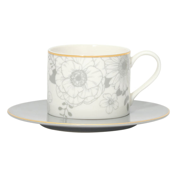 ANEMONE CUP & SAUCER WH