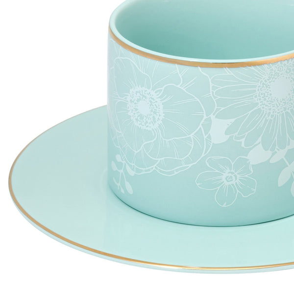 ANEMONE CUP & SAUCER MINT
