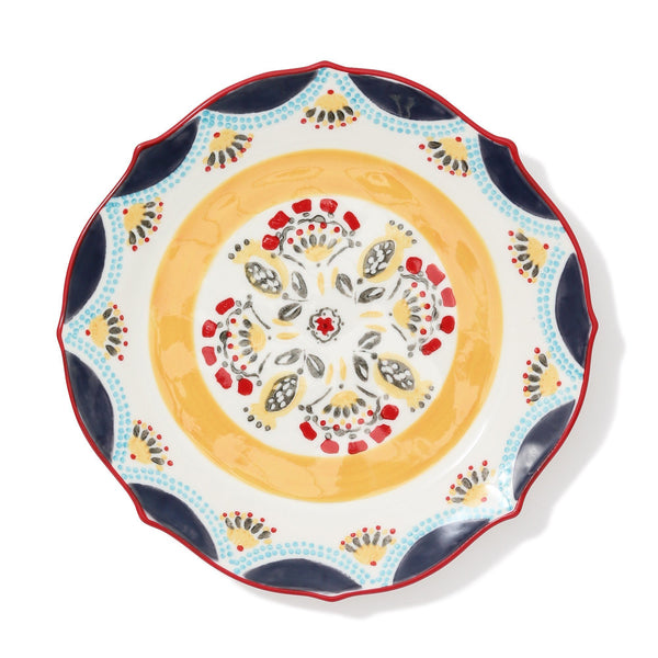 CARINA PLATE Medium Yellow x Red