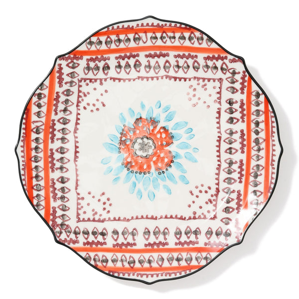 CARINA PLATE Large Orange x Black