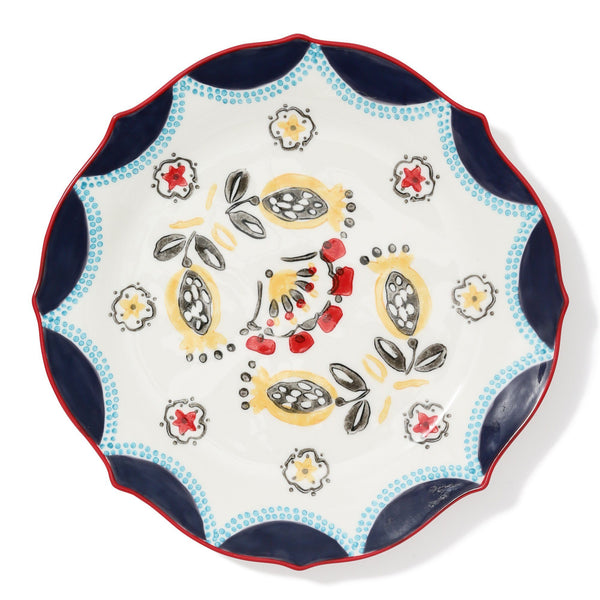 CARINA PLATE Large Yellow x Red