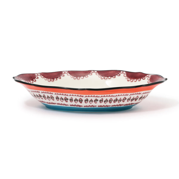 CARINA OVAL BOWL Orange x Black