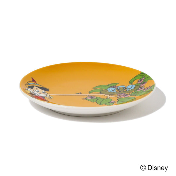 DISNEY PINOCCHIO ROUND MINI PLATE YELLOW