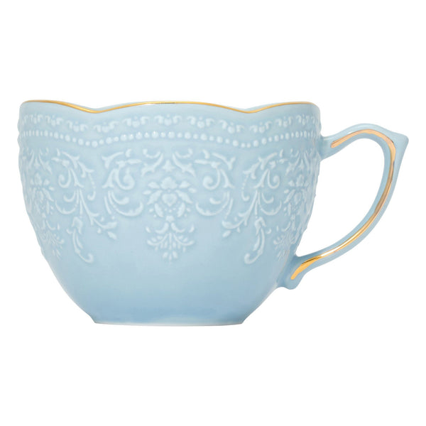 VOILE CUP & SAUCER LIGHT BLUE