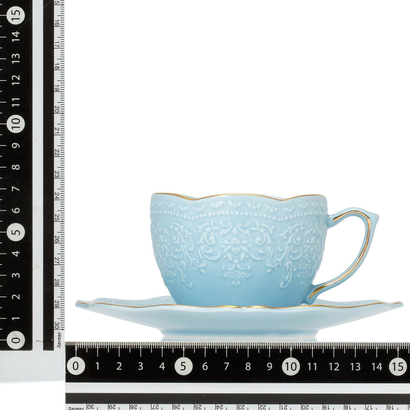 VOILE CUP & SAUCER WH
