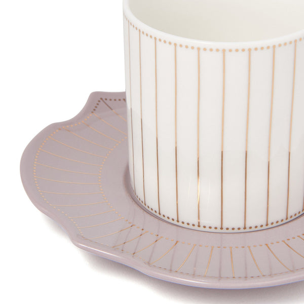 RAFFINE CUP&SAUCER Light Gray X White