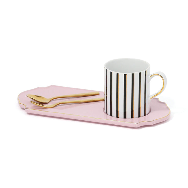 MUG&PLATE WITH CUTLERY SET Pink