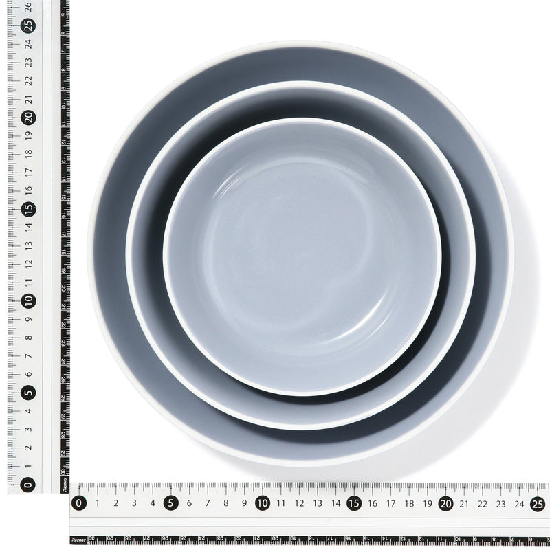 ORDI DEEP PLATE SET S/M/L GRAY