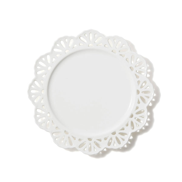 PANIER PLATE LACE Small White
