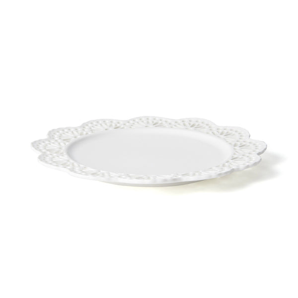 PANIER PLATE LACE Medium White