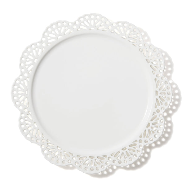 PANIER PLATE LACE Large White