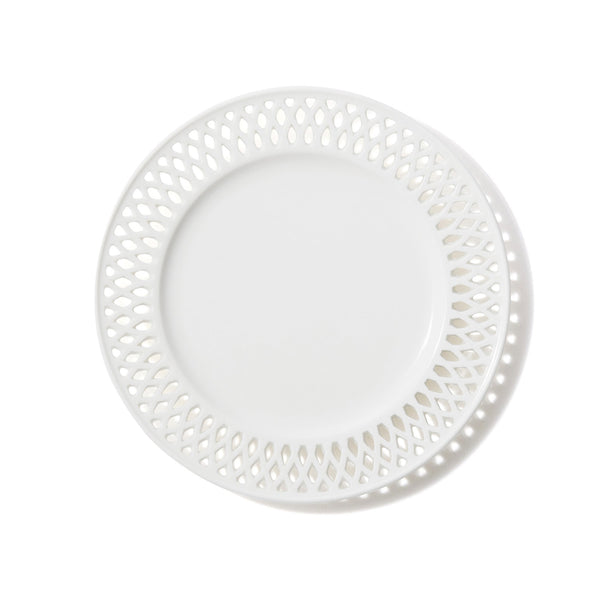 PANIER PLATE BRAID Small White