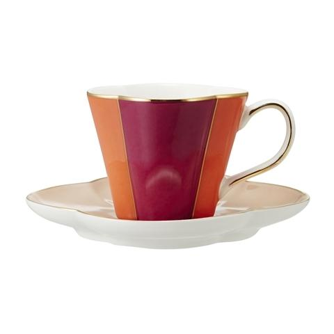 EMILIA Cup & Saucer Red