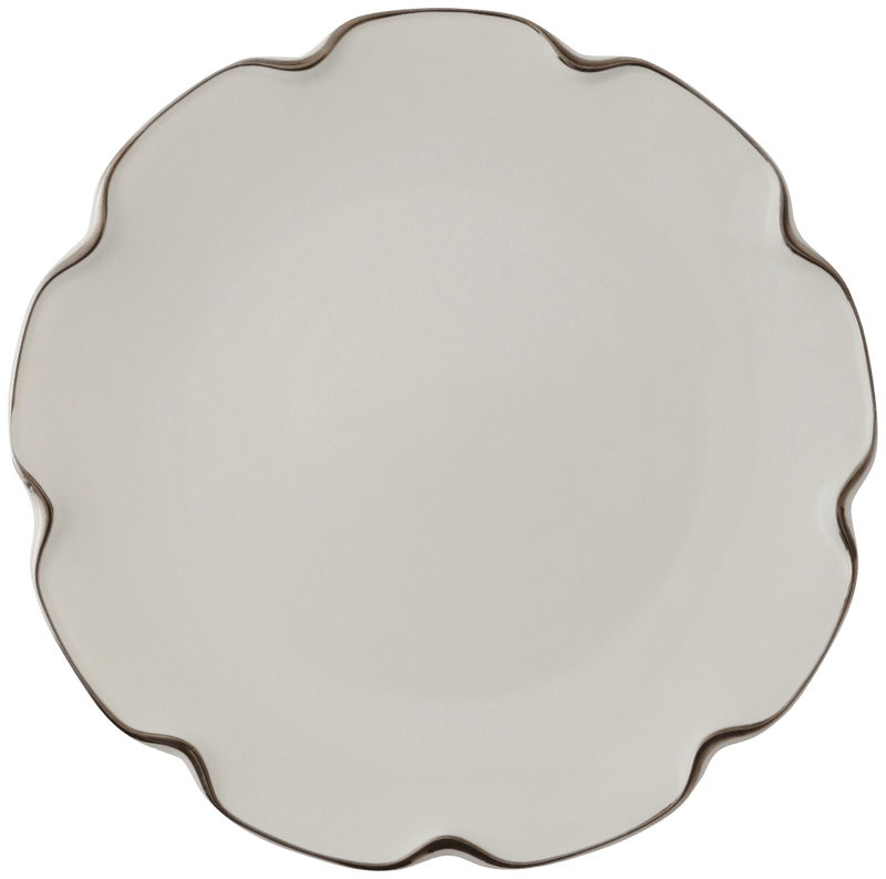 Nube Plate Large Silver