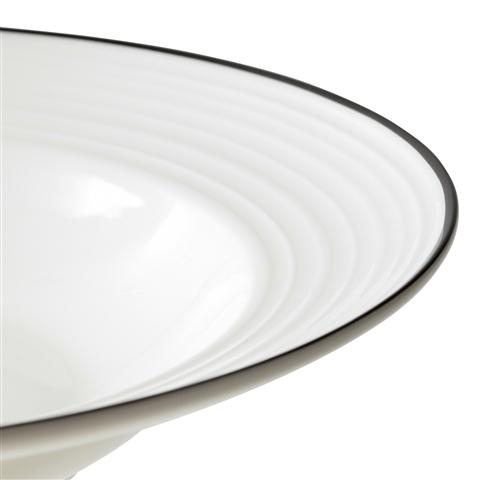 BONE CHINA WAVY Line Plate Deep Medium