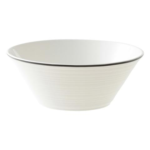 Bone China WAVY Line Bowl Medium Black