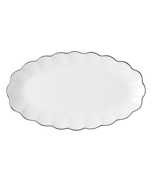 BLANC Plate Oval Small White