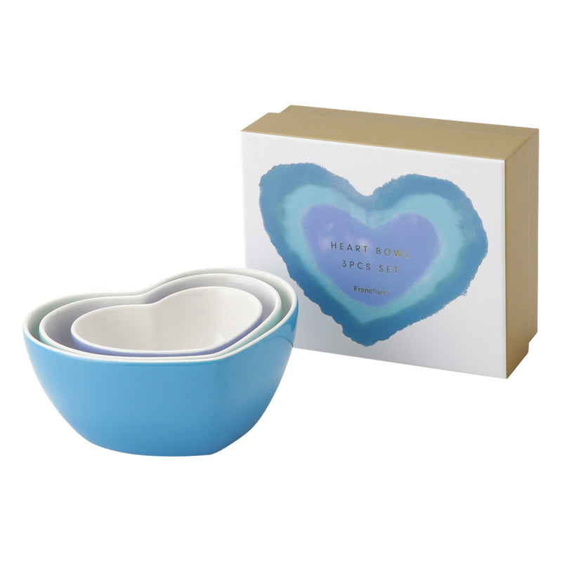 HEART Bowl 3pcs Set Blue