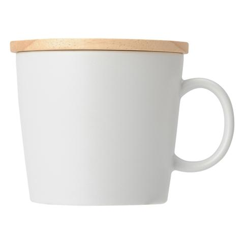 MUG Wood Lid White