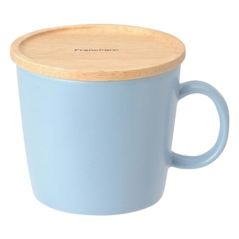 MUG Wood Lid Blue
