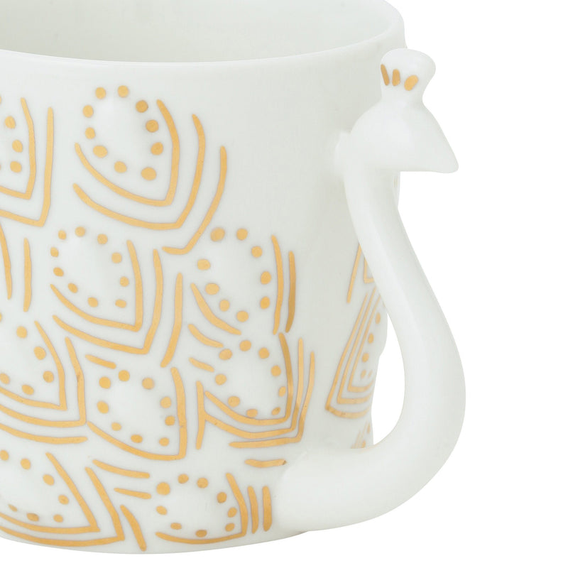 ANIMAL Silhouette Mug Peacock