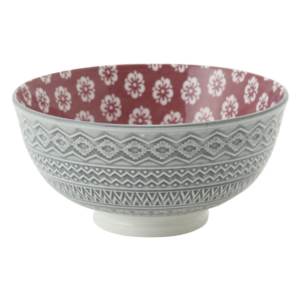 IROIRO Rice Bowl Ume Gray x Pink