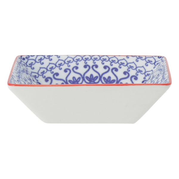 IROIRO Square Dish Circle Blue