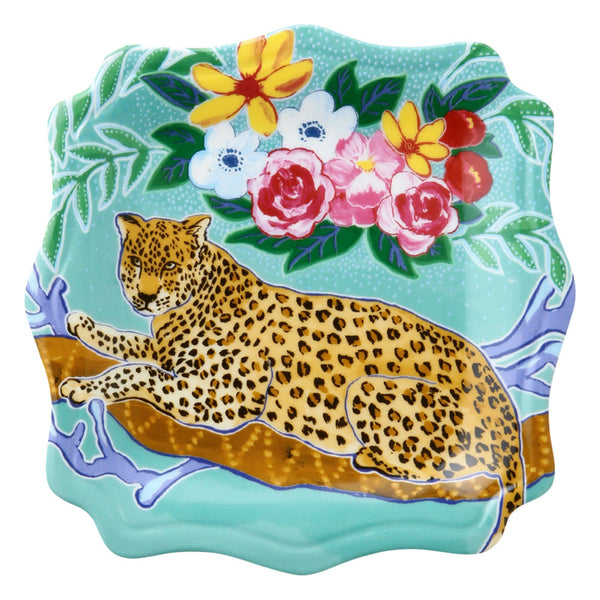 ANIMALE PLATE LEOPARD
