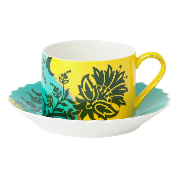 HUA CUP&SAUCER Green x Yellow