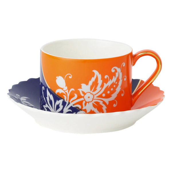 HUA CUP&SAUCER Navy x Orange