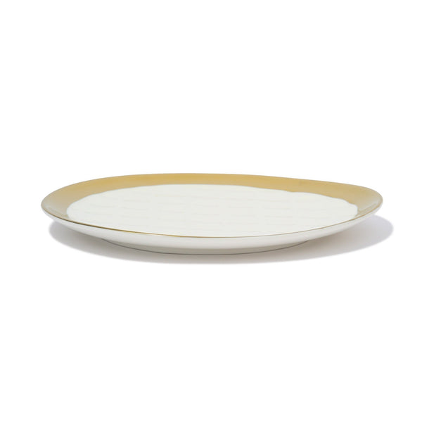 MATELASSE PLATE Medium White