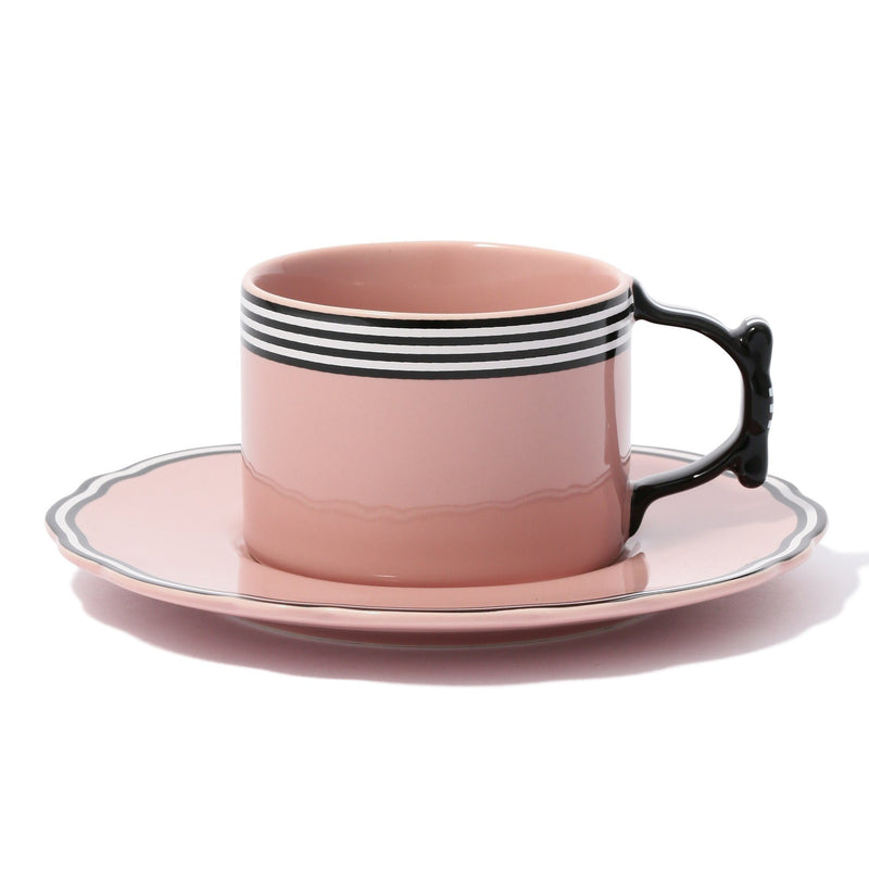 RIBBON CUP&SAUCER Pink